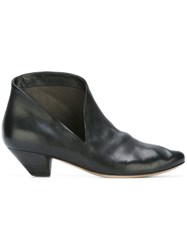 Marsell Pointed Toe Ankle Boots Black