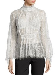Alice Mccall Love Myself Floral Lace Blouse White