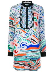 Mary Katrantzou Rainbow Cloud Print Mini Dress Black