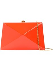 Rocio Diaz Clutch Bag Orange