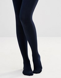 Plush Fleece Lined Tights Navy
