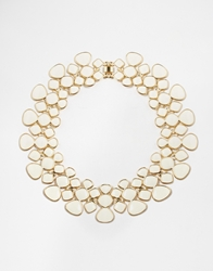 Paper Dolls Articulated Enamel Collar Necklace Cream