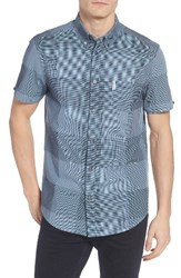 Ben Sherman Men's Mod Fit Textured Micro Gingham Shirt