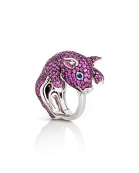 Roberto Coin 18K Sapphire Pave Pig Ring