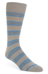 Lorenzo Uomo Genova Striped Socks Light Grey