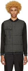 Robert Geller Grey Quilted Vest