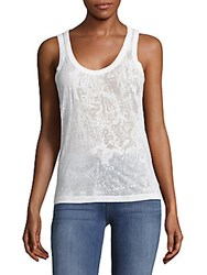 Zadig And Voltaire Deep Burn Sleeveless Top White