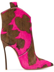 Casadei Blade Cowboy Boots Pink And Purple