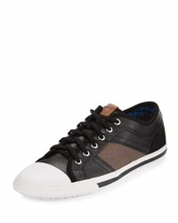 Ben Sherman Mason Patchwork Low Top Sneaker Black