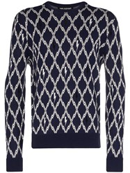 Neil Barrett Intarsia Knit Jumper 60