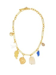 Lizzie Fortunato Paradise Gold Plated Charm Necklace Gold
