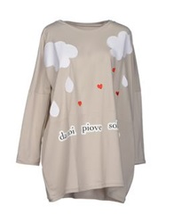 Rose' A Pois T Shirts Light Grey