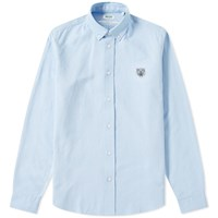 Kenzo Tiger Crest Oxford Shirt Blue