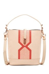 Treesje Small Candice Leather Bucket Bag Pink
