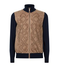 Zilli Suede Knit Jacket Male Brown