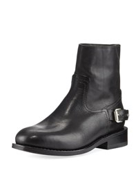 Rag And Bone Oliver Flat Zip Up Buckled Boot Black