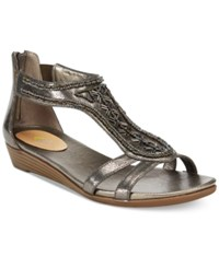 Easy Spirit Amalina Wedge Sandals Women's Shoes Pewter