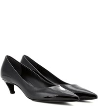 Balenciaga Patent Leather Kitten Heel Pumps Black