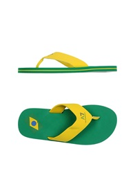 Emporio Armani Ea7 Thong Sandals Yellow