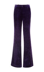 Roberto Cavalli Purple Printed Flared Pants