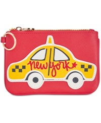 Macy's Taxi Coin Pouch Red