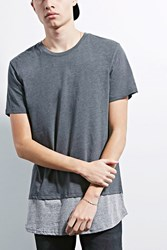 Forever 21 Human Condition Contrast Tee Black Grey
