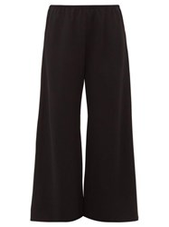 The Row Vala Cropped Wide Leg Trousers Black