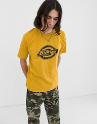 Dickies T Shirt With Large Logo In Yellow