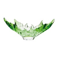 Lalique Champs Elysees Limited Edition Bowl Deep Green And Clear Large