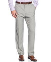 Kenneth Cole Reaction Stretch Gaberdine Solid Twill Pants Oatmeal