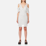Mcq By Alexander Mcqueen Women's Dropped Shoulder Dress Ivory White