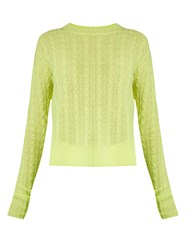 Sies Marjan Casey Cable Knit Cashmere Sweater Light Yellow