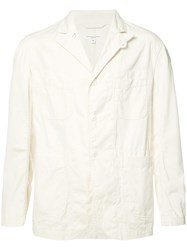 Engineered Garments Three Button Blazer White