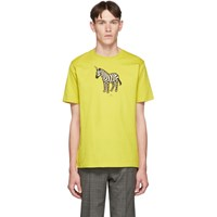 Paul Smith Ps By Ssense Exclusive Yellow Zebra Regular Fit T Shirt 12Acid