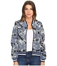 Blank Nyc Floral Bomber Jacket In Most Wanted Most Wanted Women's Coat Gray