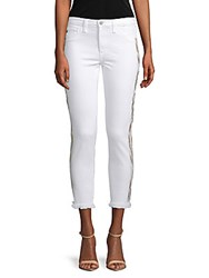 Ag Adriano Goldschmied Frayed Mid Rise Pants White