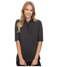 Lacoste Half Sleeve Slim Fit Stretch Pique Polo Shirt Scarab Black Chine Women's Short Sleeve Knit Gray