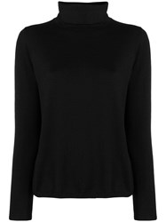Aspesi Fine Knit Turtleneck Sweater Black