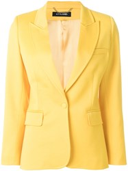 Styland Buttoned Up Jacket Yellow And Orange