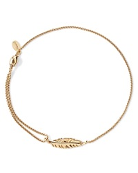 Alex And Ani Precious Metals Symbolic Feather Pull Chain Bracelet Gold