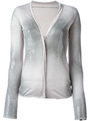 Aviu Aviu Sequin Embellished Cardigan Grey