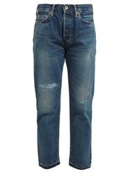 Chimala Distressed Straight Leg Jeans Denim