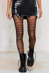 Nasty Gal Look From London Slash Stash Fishnet Tights