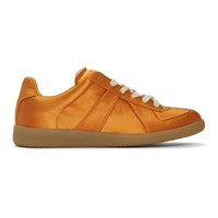 Maison Martin Margiela Orange Satin Replica Sneakers