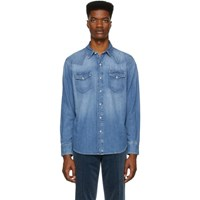 Ralph Lauren Purple Label Blue Denim Magic Western Shirt