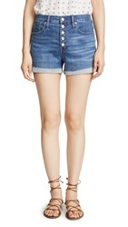 Madewell High Rise Denim Shorts In Derby Wash Button Front Edition