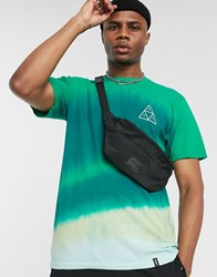 Huf Sky Wash T Shirt In Green Tie