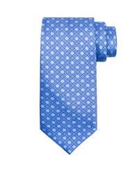 Stefano Ricci Medallion Silk Tie Light Blue