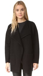 Madewell Draped Placket Sweater Coat True Black