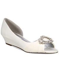 Nina Rivka D'orsay Evening Wedges Women's Shoes Ivory